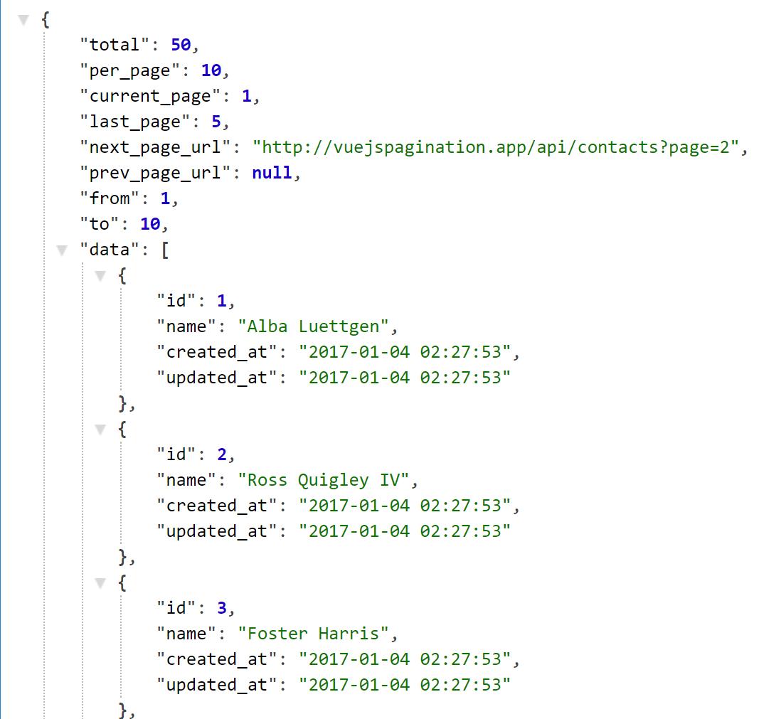 Set Json Data Using Vue Js